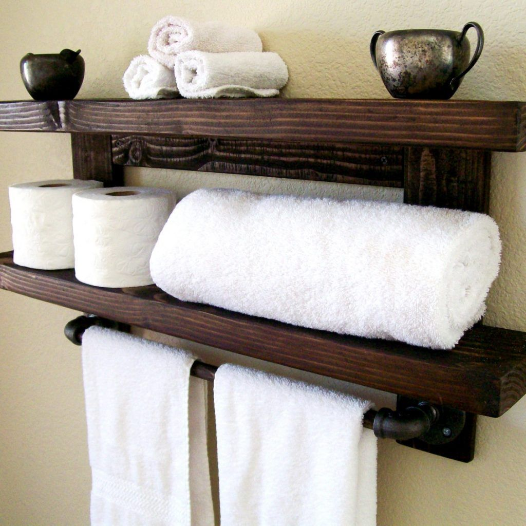 Bathroom Wall Shelf Towel Holder | Bathroom Utensils | Pinterest ...