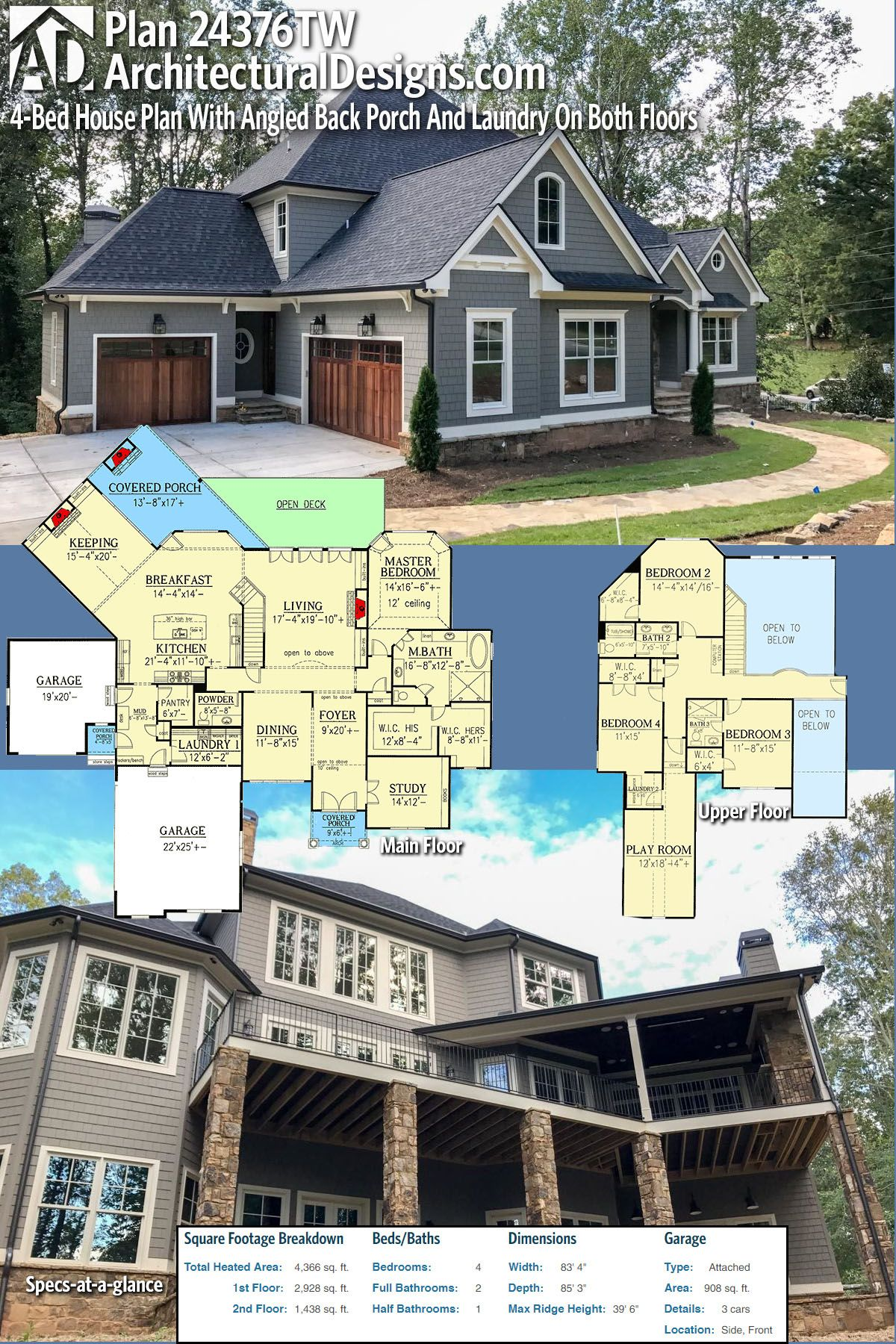 Plan 24376TW Striking Curb Appeal Plan 24376TW