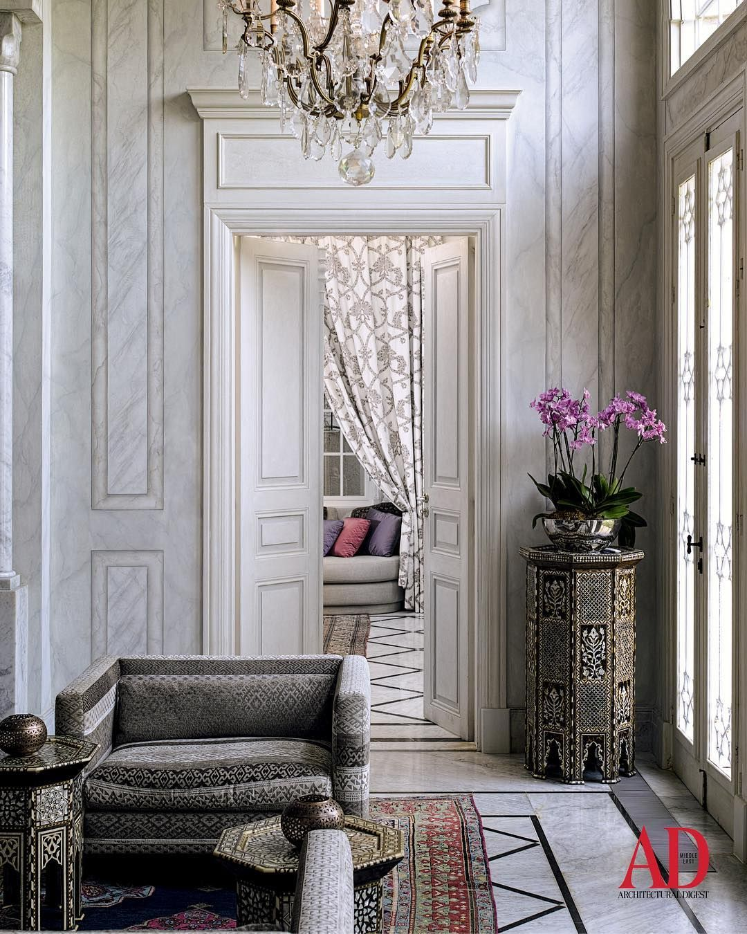 Archways Columns And Inlaid Mother Of Pearl Abound At Villa Assouad A 19th Century Architectural Gem In Be Beautiful Interiors House Interior Interior Design