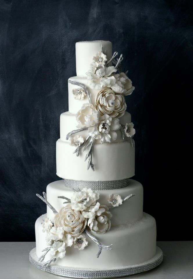 silver wedding cakes with roses white and silver wedding cake with sugar flowers wedding 19901