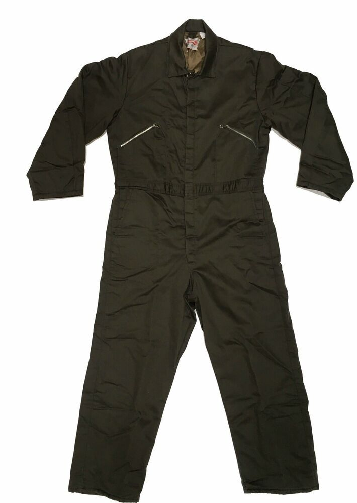details about walls blizzard pruf coveralls sz l green on walls coveralls for men insulated id=31871