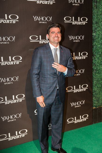 Scott O'Neil, the CEO of the Philadelphia 76ers and a Clio Sports juror, in the Film category, arrives on the red carpet.
