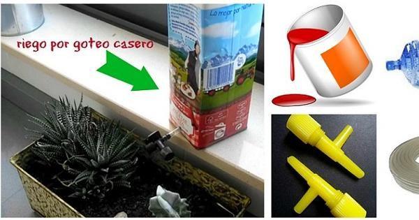 riego por goteo para macetas: ¡económico y casero! | jardines/kert