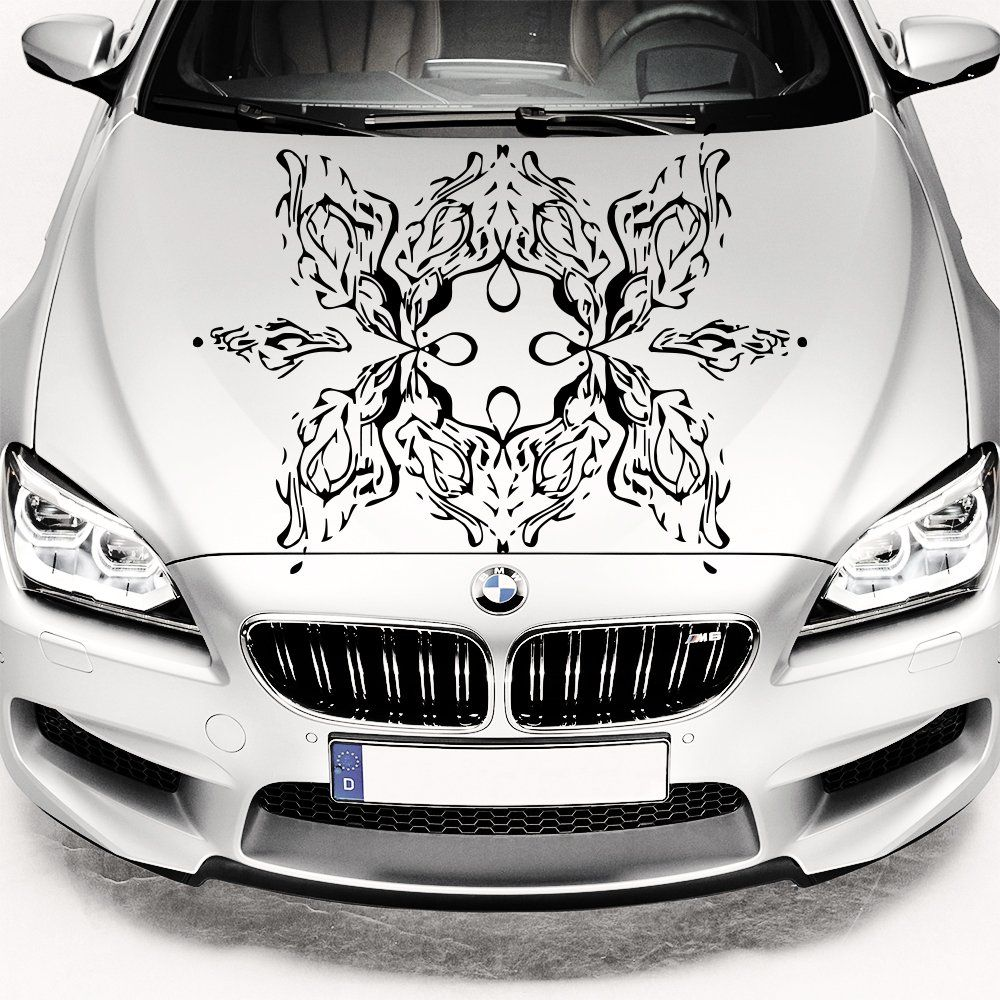 Amazoncom Car Decals Hood Decal Vinyl Sticker Flower Floral - Best automobile graphics and patterns