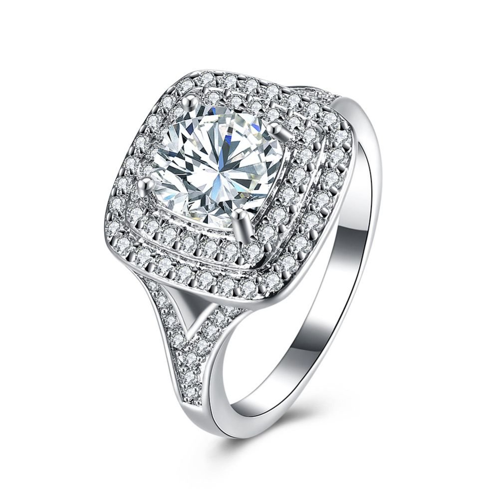 halo engagement rings diamond in wedding round watch edged square ring