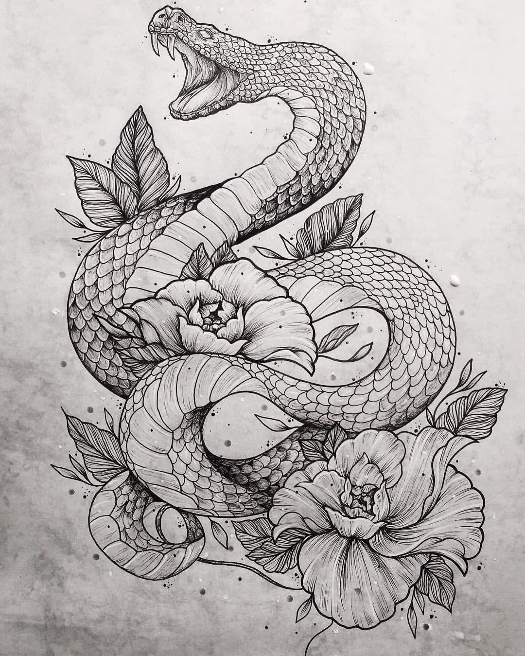 балки картинки эскизы татуировок змей готовы