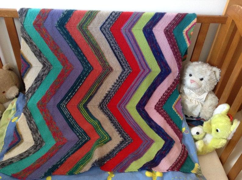 Manta, manta de carro de bebé, cochecito, manta hecha a mano, tejida, idea de regalo, guardería, manta de cochecito, manta de recién nacido