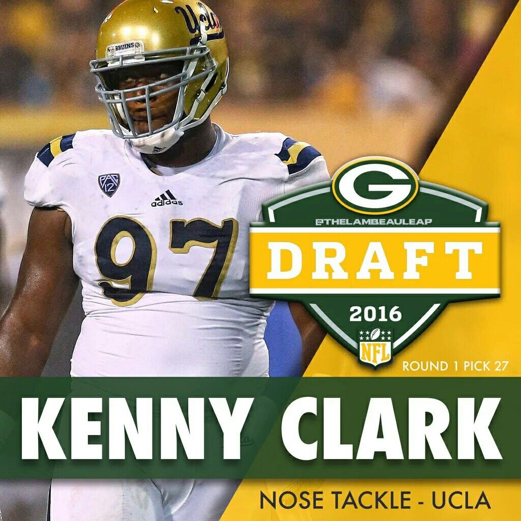 Nose Tackle Kenny Clark Was Selected In 2016 Nfl Draft By The Green Bay Packers Football Helmets Green Bay Packers Fan