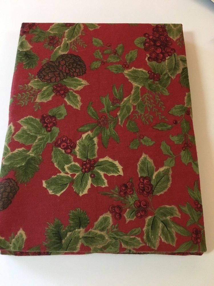Attrayant Ralph Lauren Birchmont Red Holly Print Tablecloth Various Sizes U0026 Shapes New