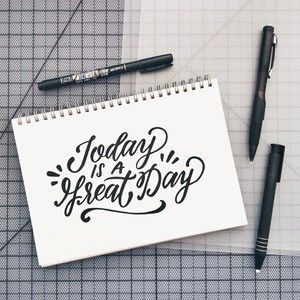 Today is a Great Day - brush lettering by Wink & Wonder                                                                                                                                                                                 Mais
