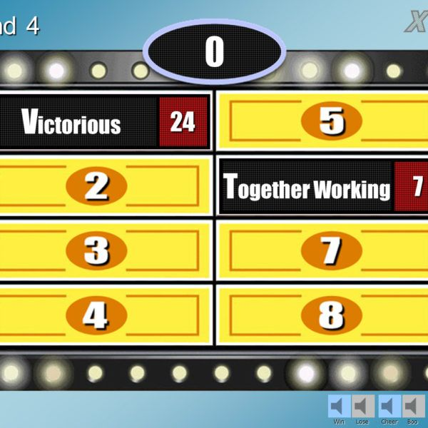 Family Feud Customizable Powerpoint Template | Classroom games and ...