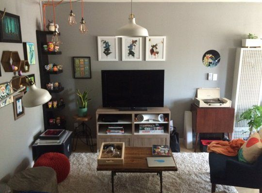 Before after angel 39 s geek chic living room the big for Geek bedroom ideas