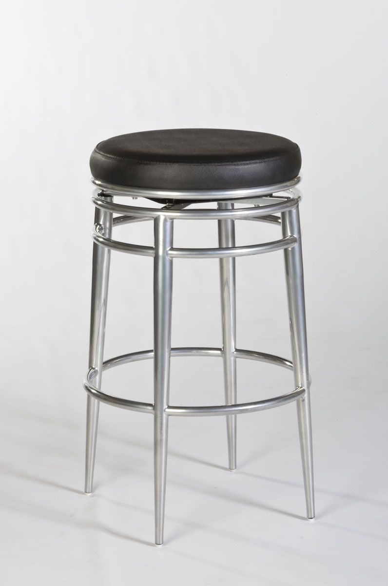 Remarkable Hillsdale Hyde Park Backless Swivel Bar Stool Chrome Unemploymentrelief Wooden Chair Designs For Living Room Unemploymentrelieforg