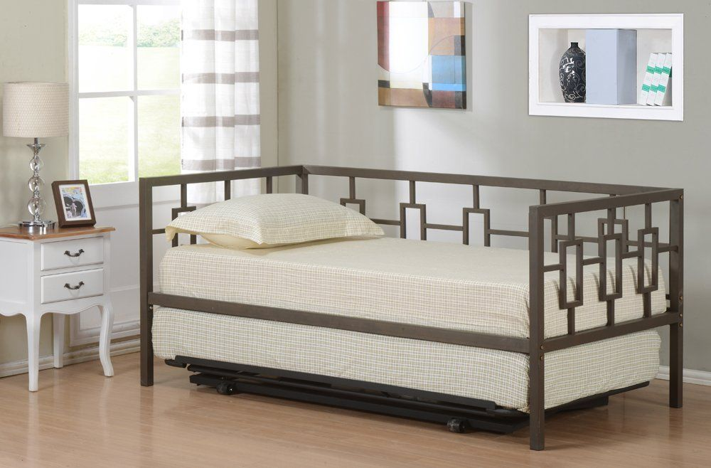 Amazon Com Brown Metal Twin Size Miami Day Bed Daybed Frame