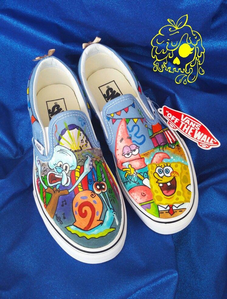 3facf79e1f8e2 Spongebob Squarepants custom shoes for my clients wedding day ...