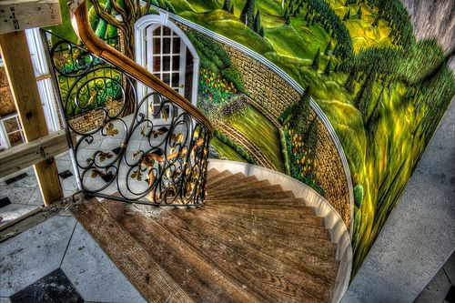 stairs - abandoned Woodstock mansion