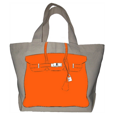 7435c5143211 Fun Birkin-esque tote by My Other Bag.