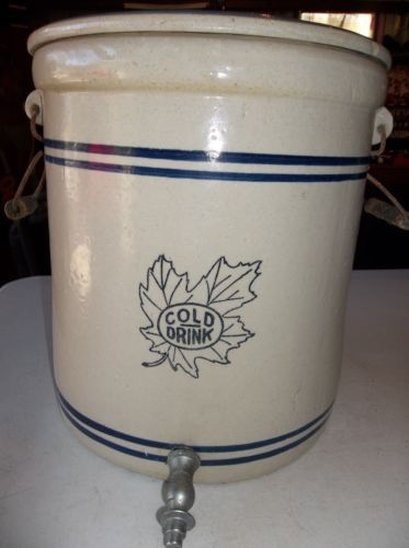 Vintage Western Stoneware Monmouth Ill 4 Gallon 6 Water