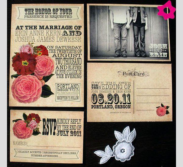 Invitaciones de boda originales Invitaciones de Matrimonio Pinterest - invitaciones para boda originales
