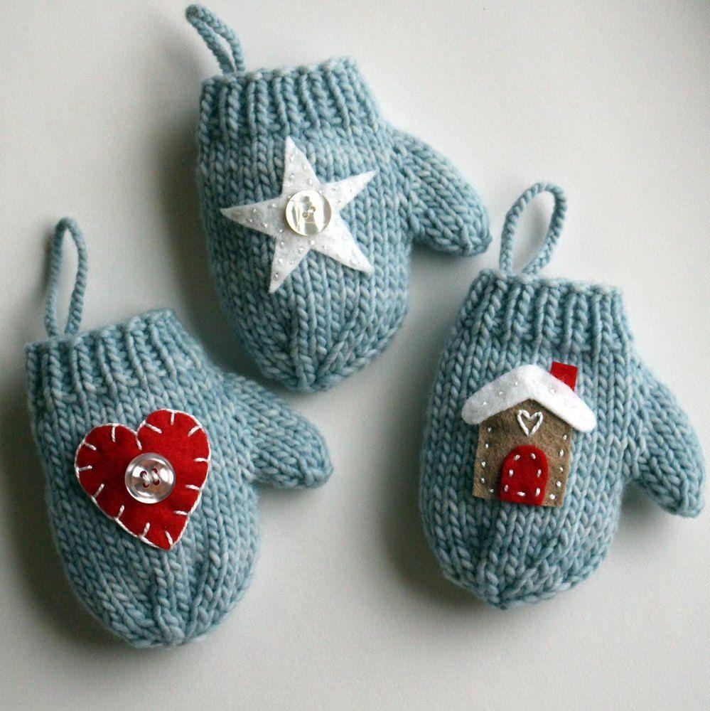 Felt Applique Mitten Christmas Ornament | Felt applique, Mittens and ...