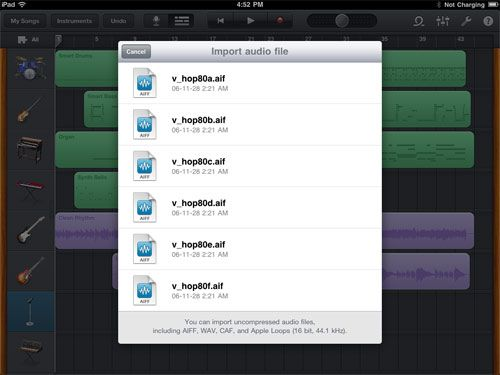 How To Import Apple Loops Into Garageband for iPad