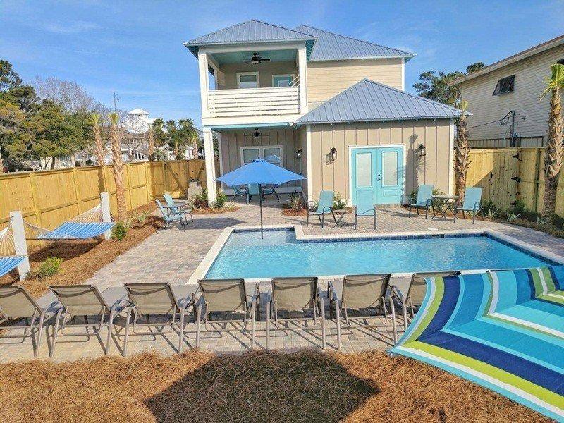 Brand new 8b7b luxury beach home private pool free golf
