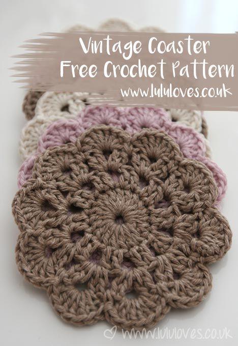 Crochet Vintage Coaster Free Pattern | Lululoves Blog | deckchen ...