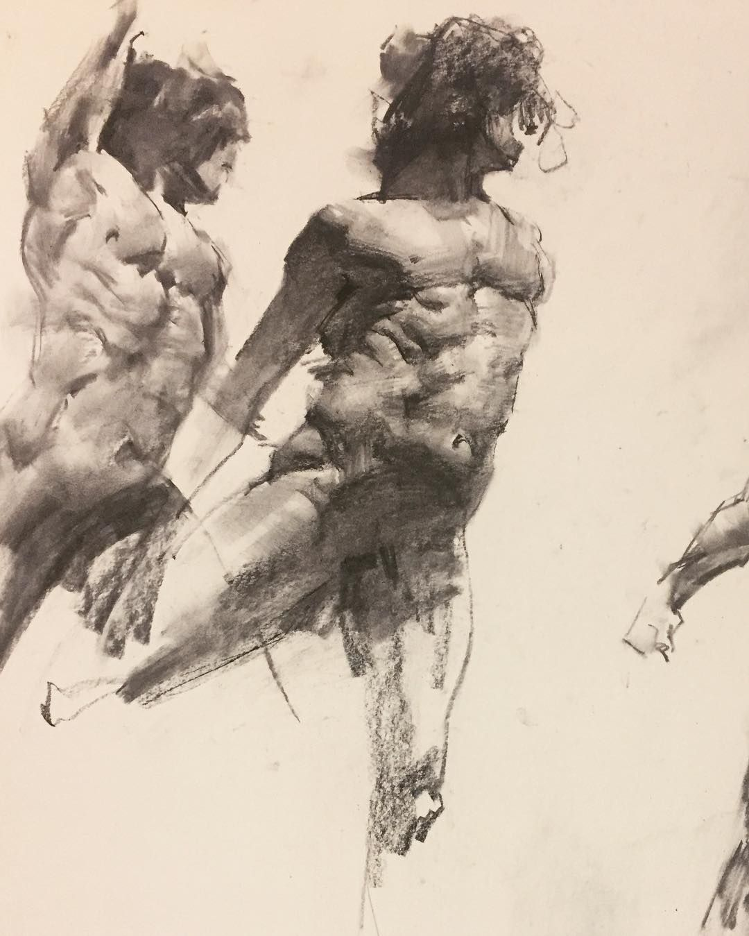 Workshop londonfinearts figure study 20 minuets with vine and charcoal pencil sketch sketchbook sketching quickdrawing artfido