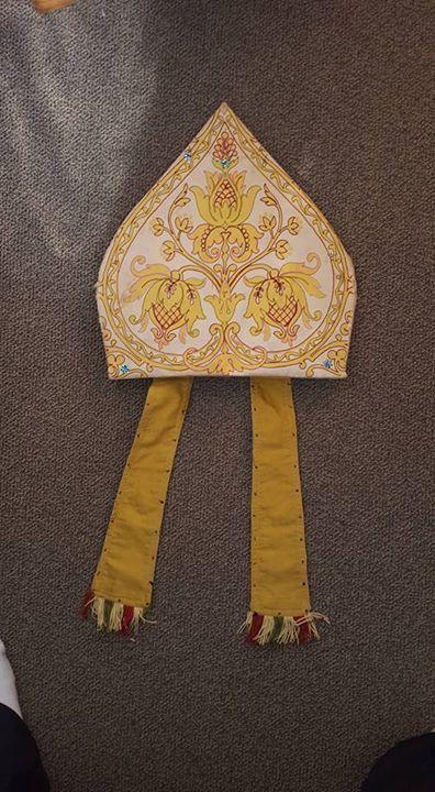 Antique Vestment, Miter, Mitre, Bishop Hat