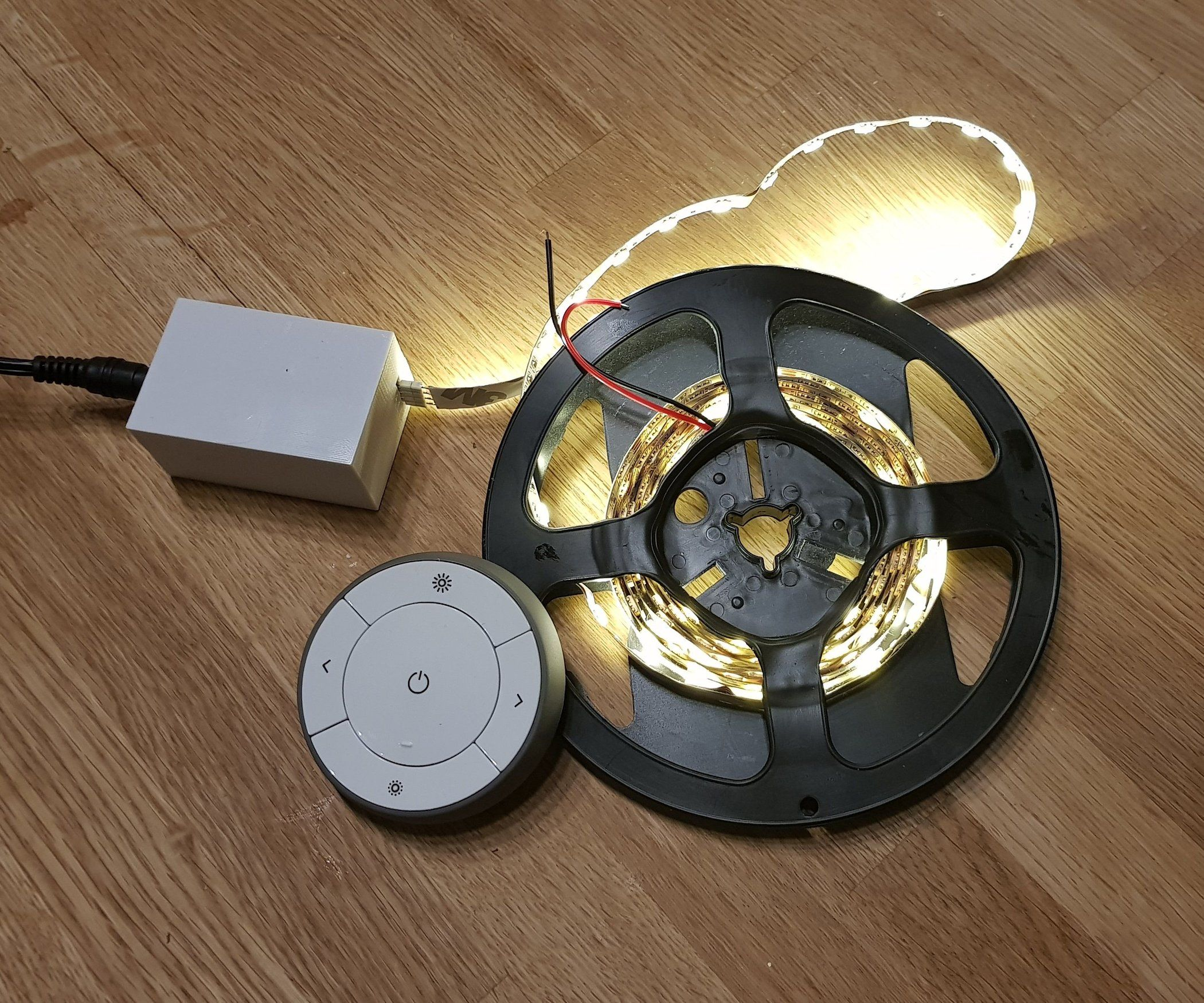 Zigbee Led Strip Dimmer Ikea Tradfri Hack Led Strip Lighting Lighting Hacks Zigbee