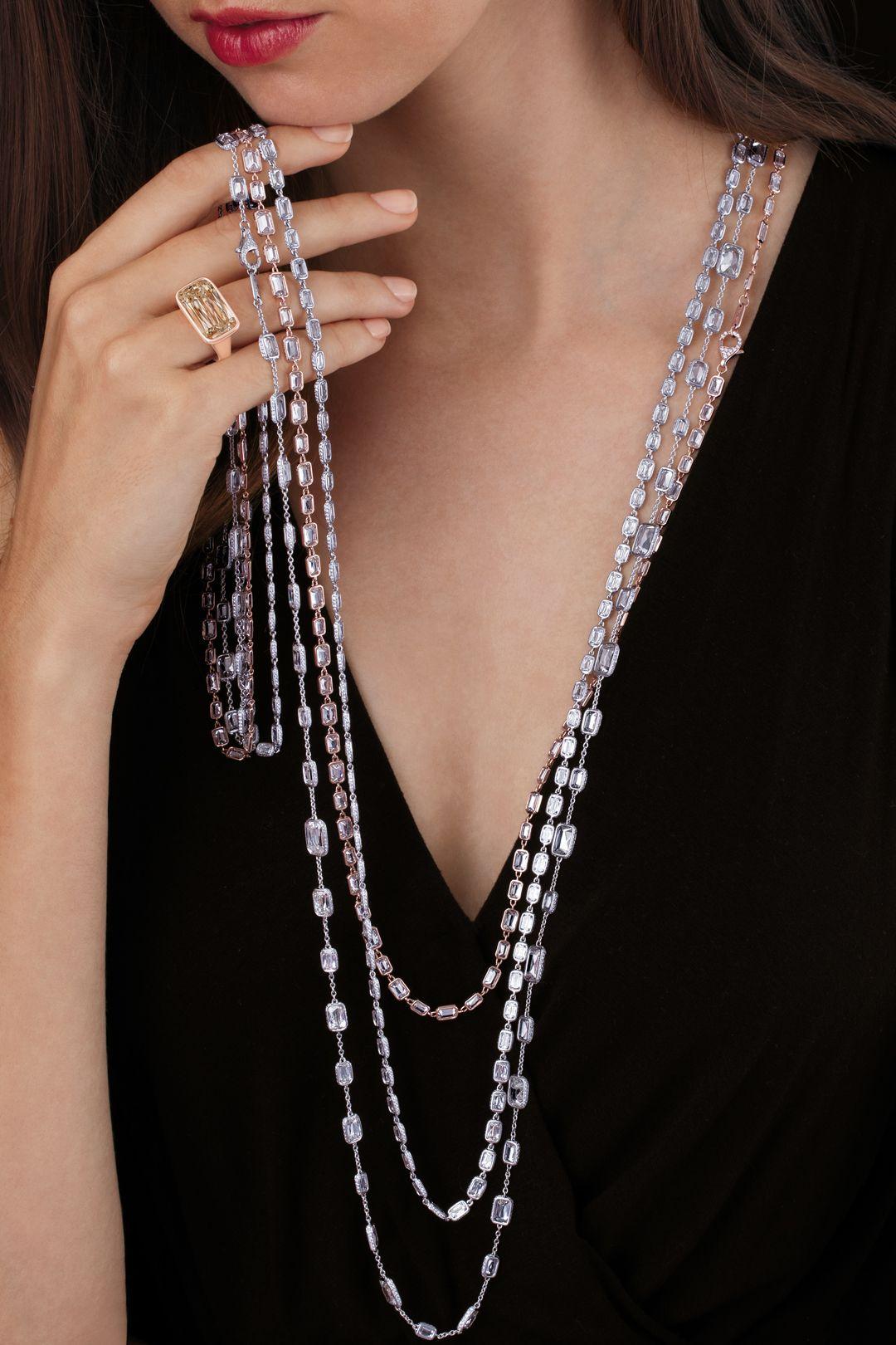 ASHOKA® Diamond Eve Ring and Lili Chain Necklaces