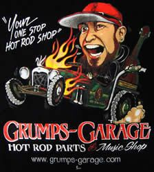 Grumps Garage    San Jacinto, Ca.    If you need an old Ford part, this is the place to find it.