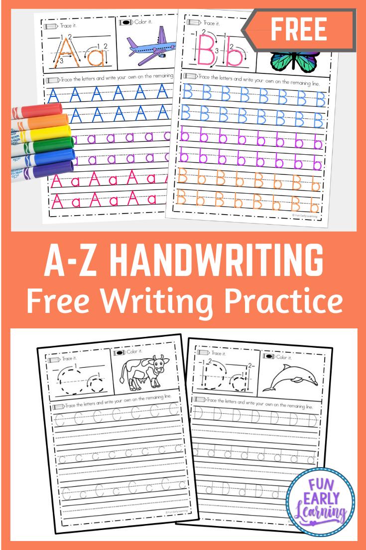 A Z Handwriting Practice in 2020   Handwriting practice ...