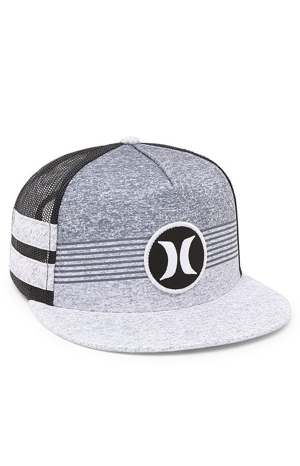 Men's Hurley Block Party Trucker Snapback Hat - Blue / Black