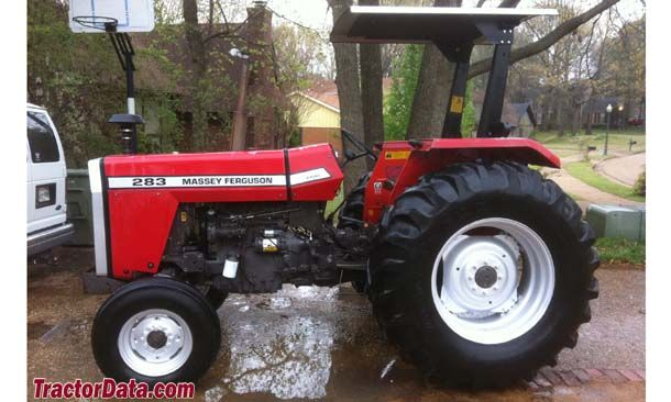 Massey Ferguson 283, left profile | Tractors made in Great