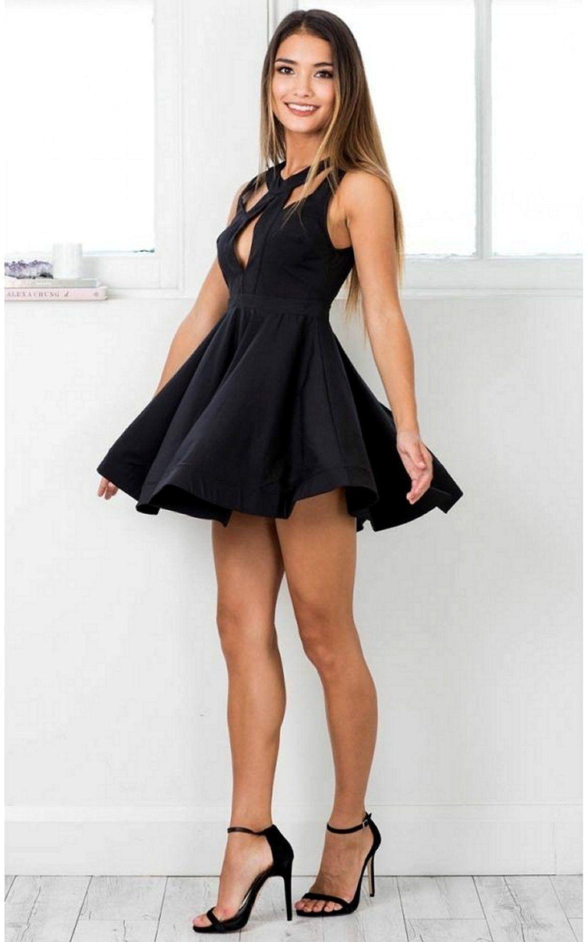 93bdbbaa1a I ❤ her cute mini dress and high heels