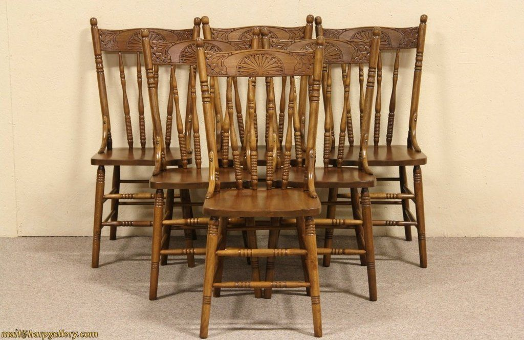 Antique Wooden Dining Chairs Interior Design