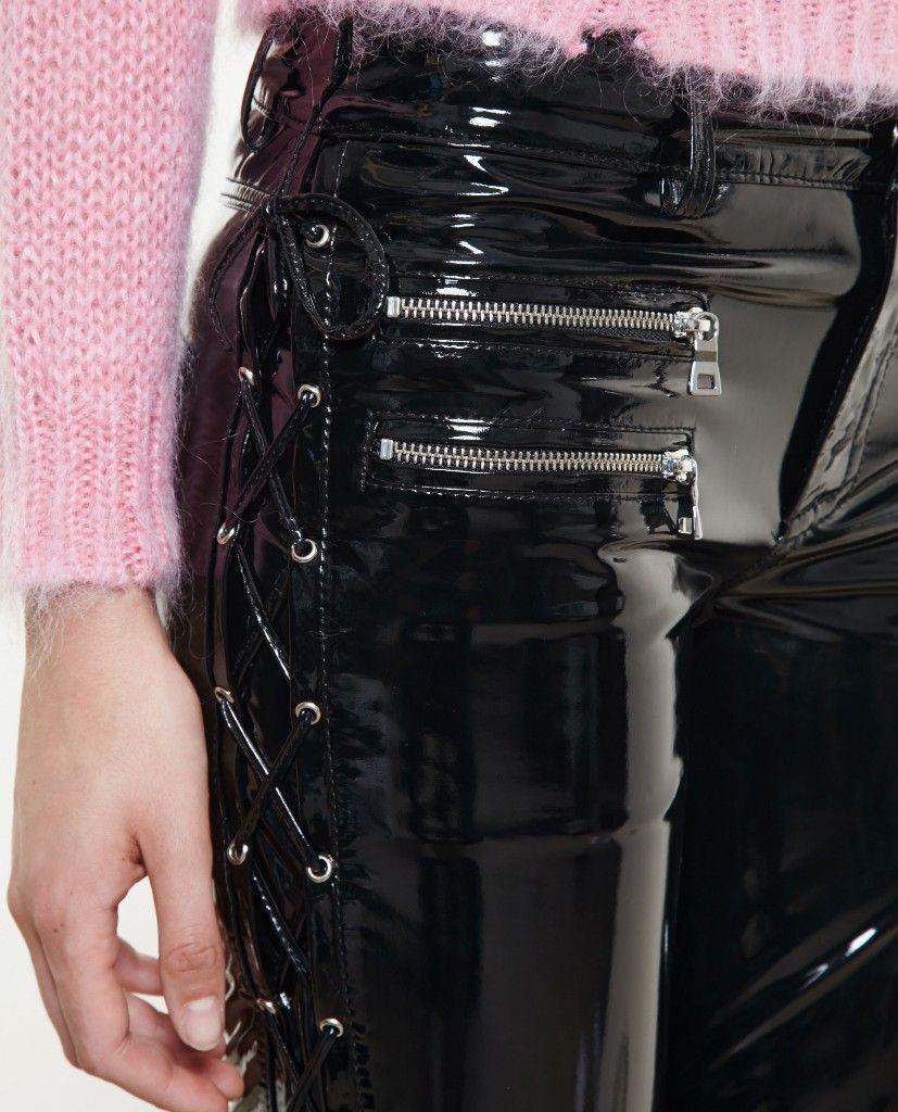 Pvc zip leggings