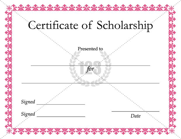 Scholarship Certificate Template | SCHOLARSHIP CERTIFICATE ...