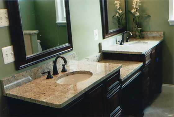 Narrow Bathroom Counter With Two Sinks Bathroom Sinks With