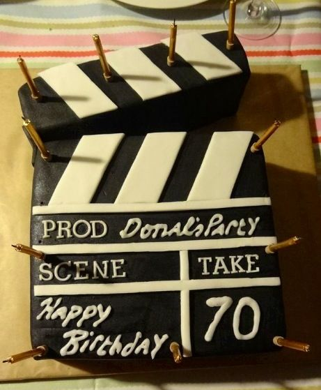 Clapper Board Film Cake Film Cakes Pinterest Films Cake And