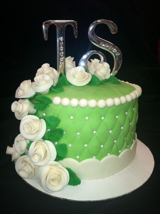 55th Wedding Anniversary Cake