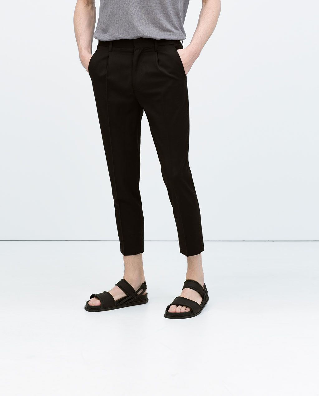 94dfaff9 Cropped trousers-View all-Trousers-MAN | ZARA United Kingdom | Men's ...