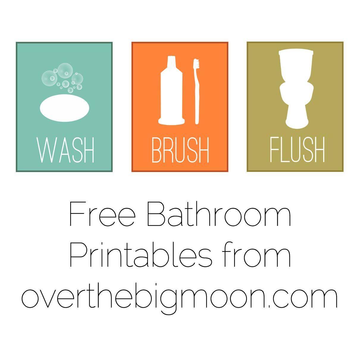 Free fun bathroom printables!