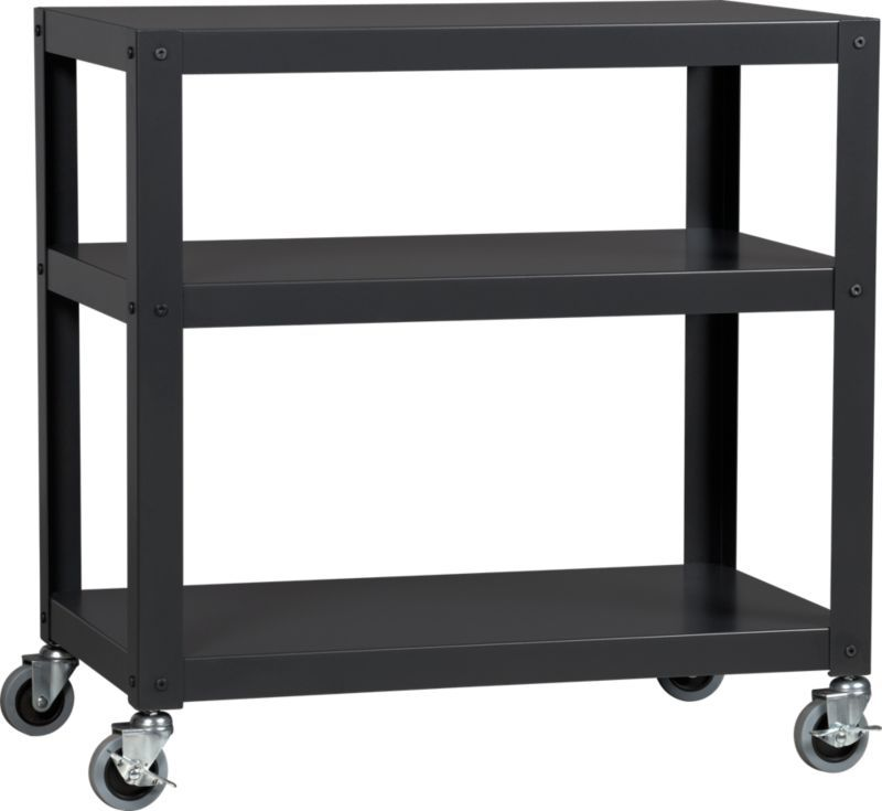 Kitchen Accent Furniture: Go-cart Carbon Three-shelf Table In Accent Tables