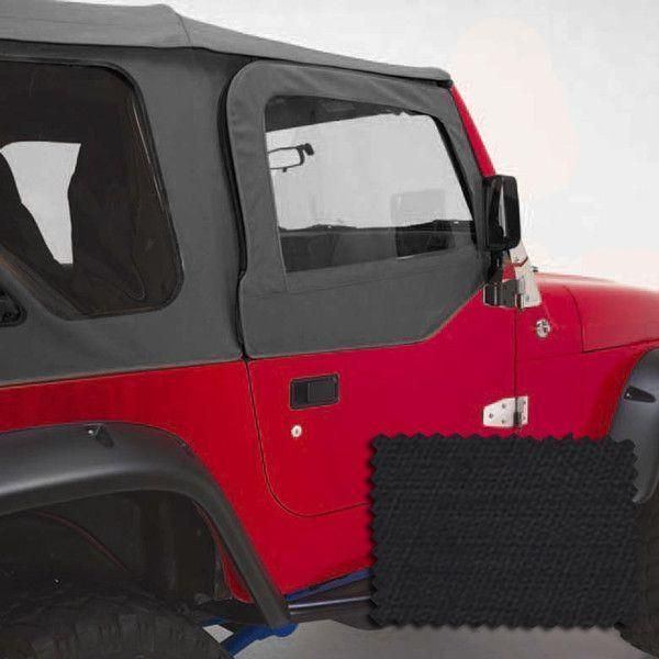 Upper Soft Door Kit Black Diamond 97 06 Jeep Wrangler Tj Jeep Wrangler Tj Jeep Wrangler Wrangler Tj