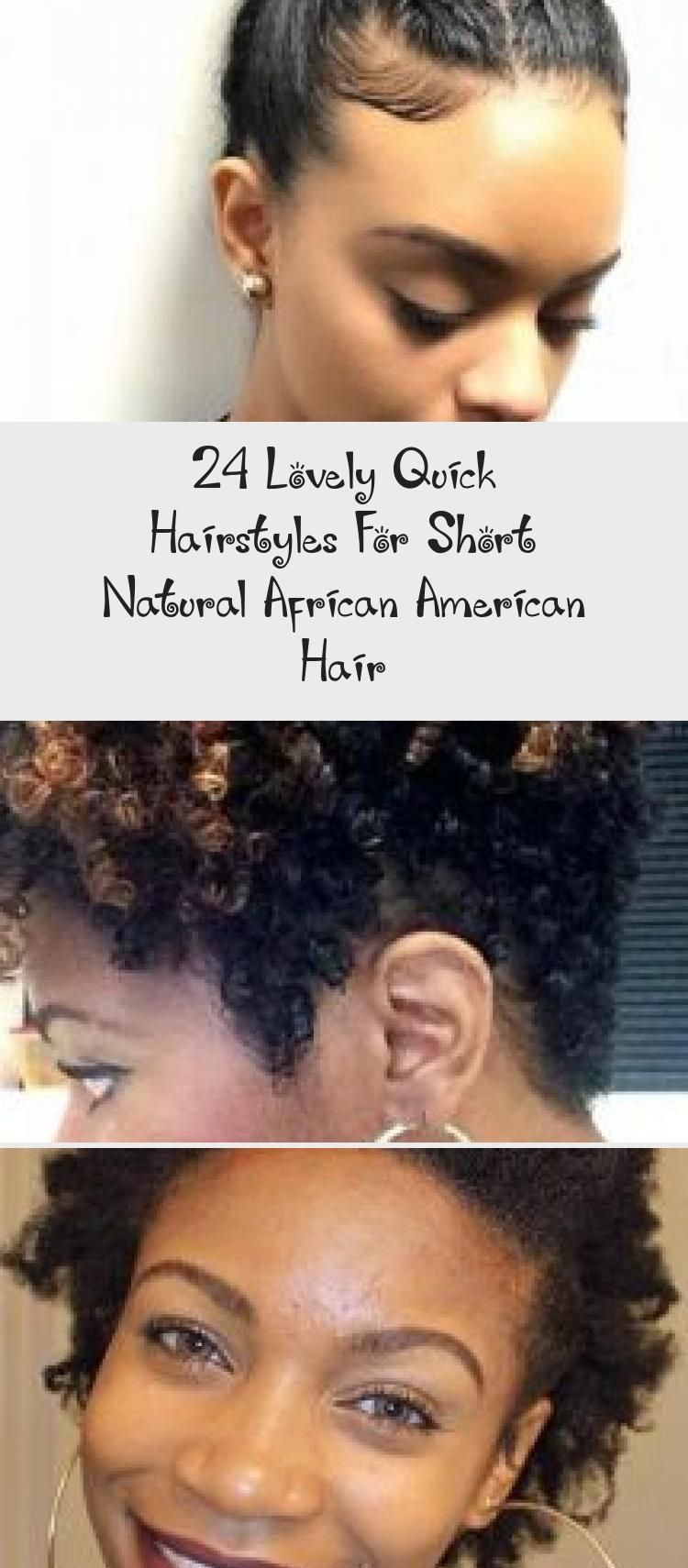 24 Lovely Quick Hairstyles For Short Natural African American Hair  Hairstyle