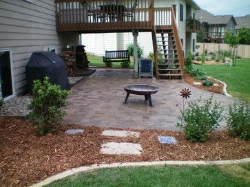 Contemporary landscape by advanced landscape solutions for Walkout basement patio ideas