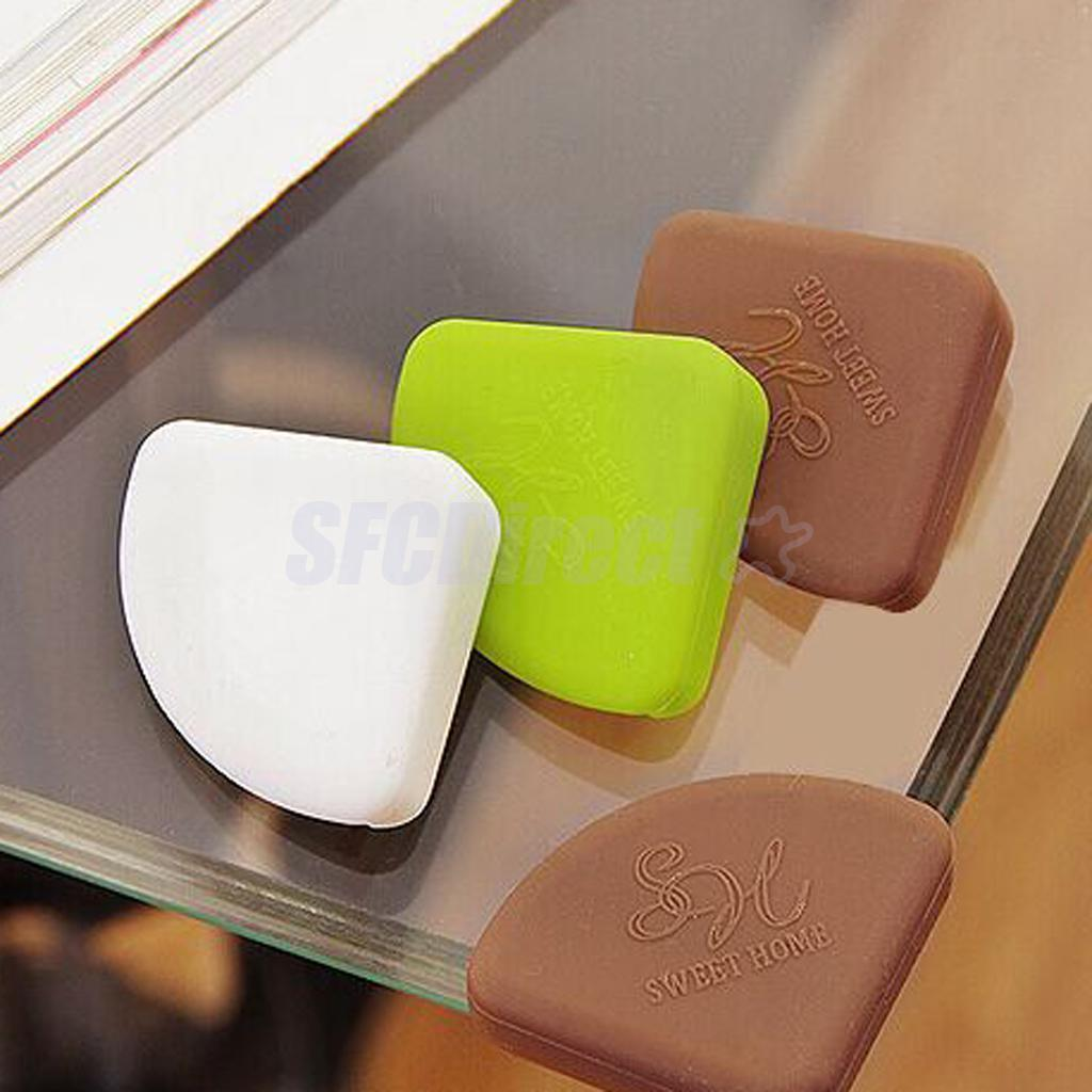 DESK TABLE COVER PROTECTOR SAFE FOR CHILD 4 x BABY SAFETY CORNER CUSHIONS