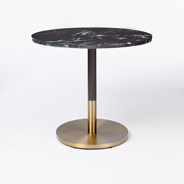 Black Marble Round Bistro Table Large Em 2019 Bar
